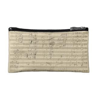 ベートーベンの第9交響曲、音楽原稿 コスメティックバッグ