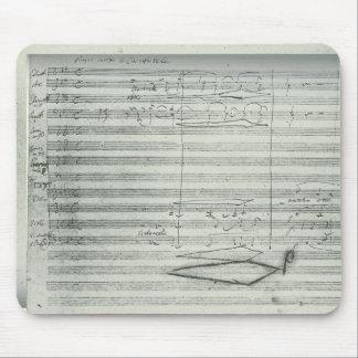 ベートーベンの第9交響曲、音楽原稿 マウスパッド