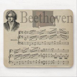 ベートーベン音楽愛好者のためのクラシックな音楽ギフト マウスパッド