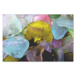 ベーリング海のティッシュペーパーからの海ガラス 薄葉紙