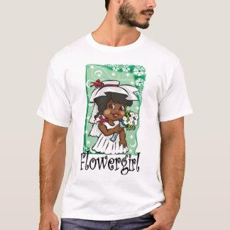 ベールのフラワー・ガール Tシャツ