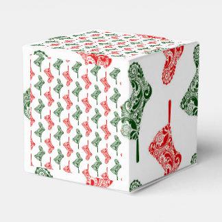 ペイズリーのクリスマスのストッキング フェイバーボックス