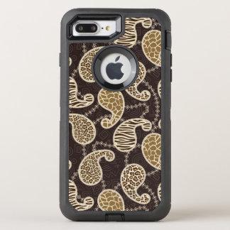 ペイズリーのスタイルの背景 オッターボックスディフェンダーiPhone 8 PLUS/7 PLUSケース