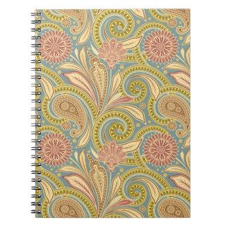ペイズリーのデザイン ノートブック