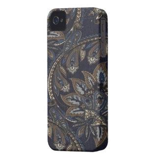 ペイズリーのデニムのプリントのブラックベリーはっきりしたな9700/9780 Case-Mate iPhone 4 ケース