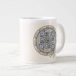 ペイズリーのバランスの曼荼羅のコーヒー・マグ ジャンボコーヒーマグカップ