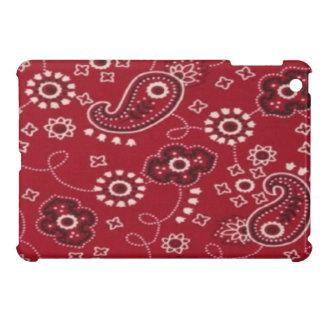 ペイズリーのバンダナの赤いiPad Miniの光沢のある終わりの箱 iPad Miniケース