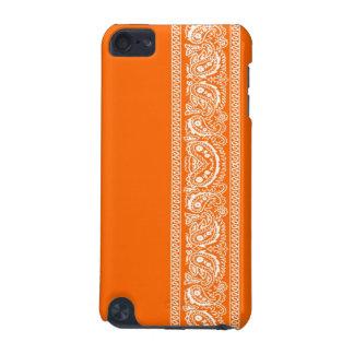 ペイズリーのバンダナのipod touchのオレンジ箱 iPod touch 5G ケース