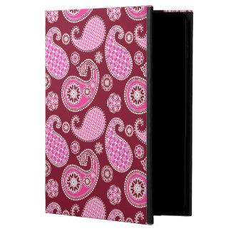 ペイズリーのパターン、バーガンディ、ピンクおよび白 POWIS iPad AIR 2 ケース