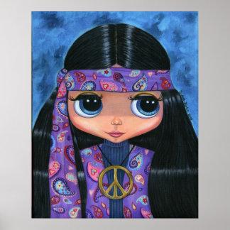 ペイズリーのヒッピーの人形ポスター ポスター
