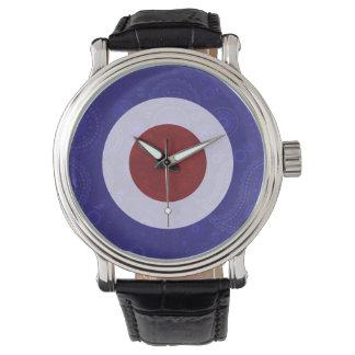 ペイズリーのプリントモダンなターゲットスクーター 腕時計