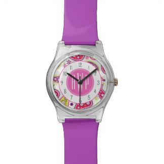 ペイズリーのモノグラムの腕時計 腕時計