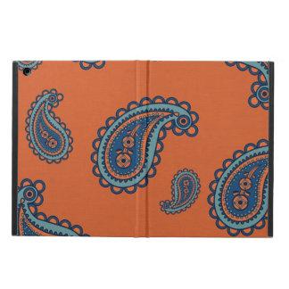 ペイズリーのヴィンテージのガーリーな花のダマスク織のhennaパターン iPad airケース