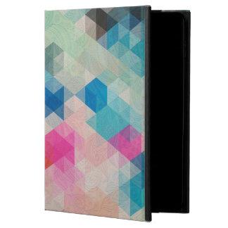 ペイズリーの上敷が付いているカラフルで幾何学的な立方体 POWIS iPad AIR 2 ケース