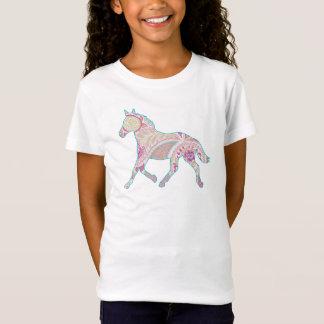 ペイズリーの小走りに走る馬のベビードールのワイシャツ Tシャツ