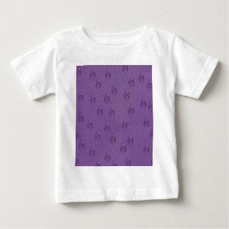 ペイズリーの紫色の破損 ベビーTシャツ