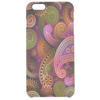 ペイズリーの紫色 クリア iPhone 6 PLUSケース