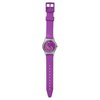ペイズリーの紫色 腕時計