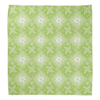 ペイズリーの緑の夏パターン バンダナ