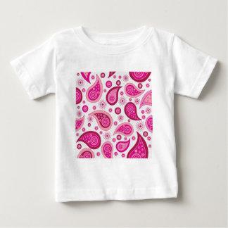ペイズリーパターンイメージ ベビーTシャツ