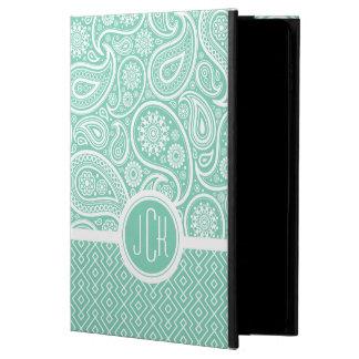 ペイズリー及び幾何学的なパターンミント緑及び白い POWIS iPad AIR 2 ケース