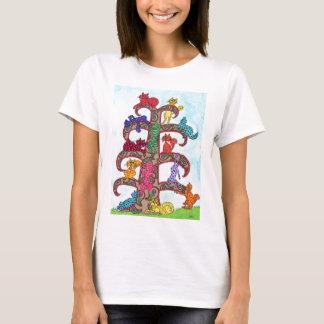 ペイズリー猫の生命の樹 Tシャツ