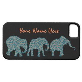 ペイズリー象のiPhone 5/5sの場合のカスタムな列 iPhone SE/5/5s ケース