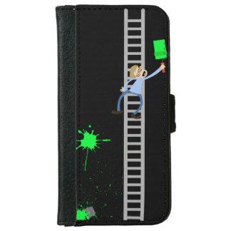 ペインターの緑の(ばちゃばちゃ)跳ねるのiPhoneのウォレットケース iPhone 6/6s ウォレットケース