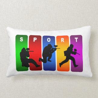 ペイントボールによってすごいクールなスポーツのデザイン ランバークッション