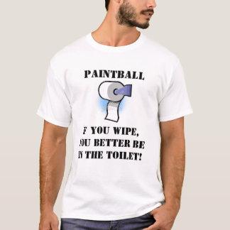 ペイントボールのワイプ Tシャツ