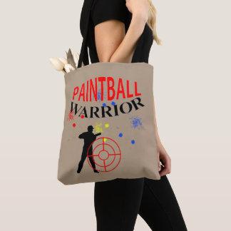 ペイントボールの戦士のテーマのグラフィック トートバッグ