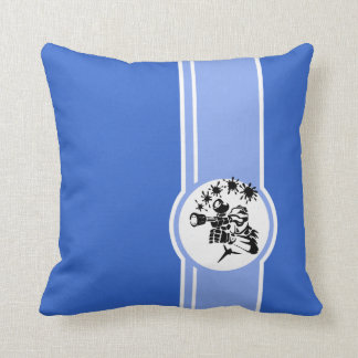 ペイントボール; 青い クッション