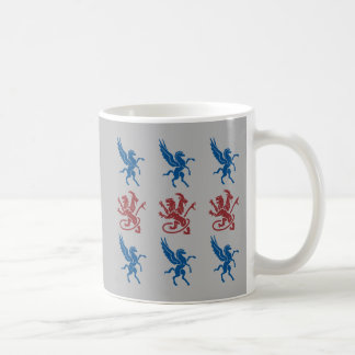 ペガソスおよびキメラパターン コーヒーマグカップ