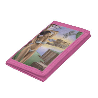 ペガソスのパルテノンの三重ナイロン財布 ナイロン三つ折りウォレット