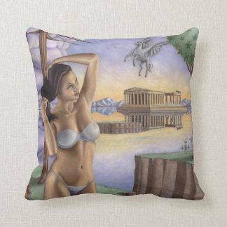 ペガソスのパルテノンの枕|綿の装飾用クッション クッション