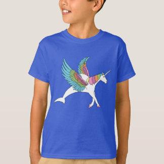 ペガソスのユニコーンのイルカ Tシャツ