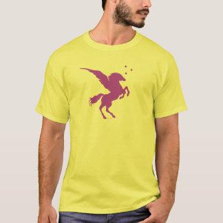 ペガソスの紫色の服装 Tシャツ