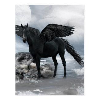 ペガソスの黒い馬 ポストカード