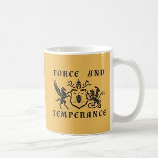 ペガソス対キメラの紋章付き外衣 コーヒーマグカップ