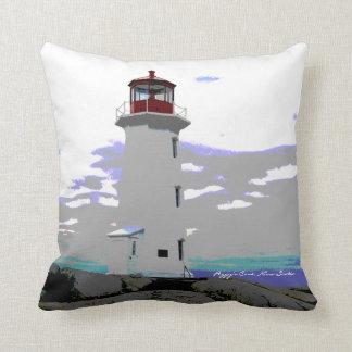 ペギーの入江のノバスコシアの灯台ルートの枕 クッション
