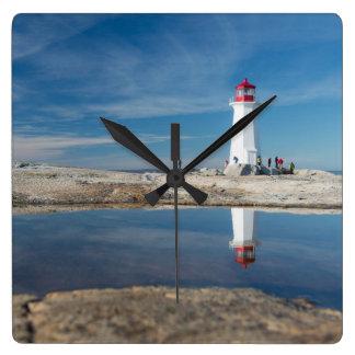 ペギーの入江の灯台 カナダ スクエア壁時計