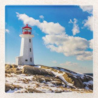 ペギーの入江、ノバスコシアの灯台|冬 ガラスコースター