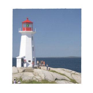 ペギーの入江、ノバスコシア、カナダの灯台 ノートパッド