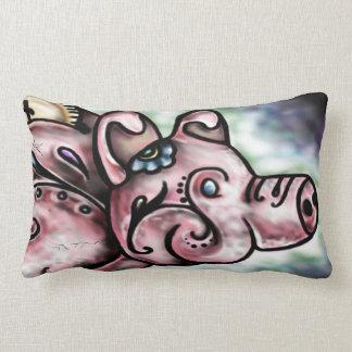 ペギーの貯金箱-豚のような枕 ランバークッション