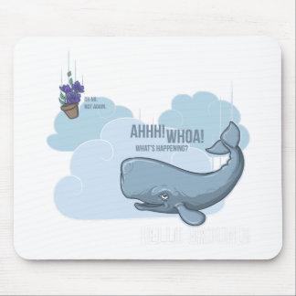 ペチュニアのマッコウクジラそしてボール マウスパッド