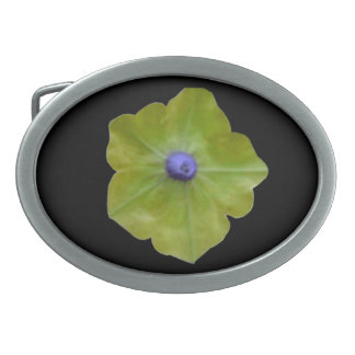 ペチュニアの緑および青のベルトの留め金 卵形バックル
