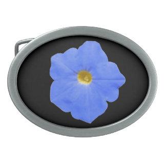 ペチュニアの青および黄色のベルトの留め金 卵形バックル
