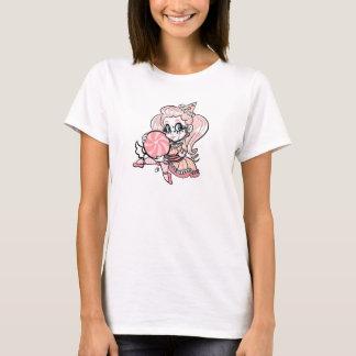 ペチュニア甘いトロッコの道化師の基本的なワイシャツ Tシャツ
