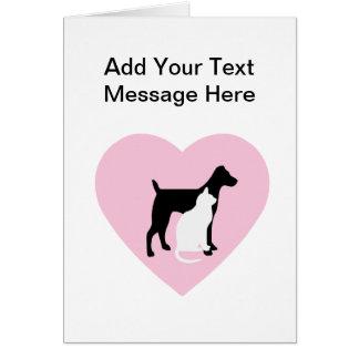 ペットの世話のカスタム・カード カード