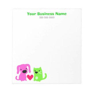 ペットの世話ビジネス ノートパッド